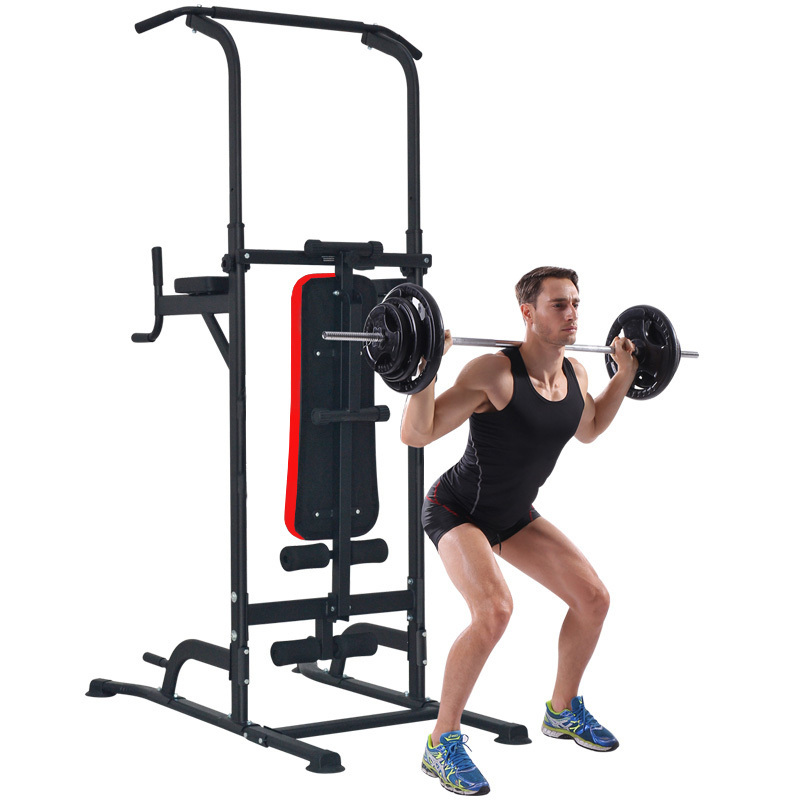 Home Gym Fitness Power Tower CHIN UP PUSH PULL KNEE RAISE