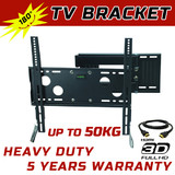 LCD LED PLASMA TV FLAT SWIVEL TELESCOPING WALL MOUNT BRACKET 32-46 3m HDMI