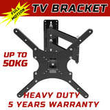 TV Wall Mount Bracket Full Motion Tilt Swivel VESA LCD LED 17-37 32 -46