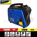 Portable 4 Stroke Pure Sine Wave Petrol Power Inverter Generator Max 2.0KW Rated 1.7KW