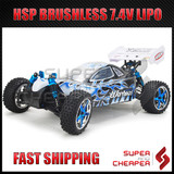 HSP 1/10 RC CAR 2.4Ghz XSTR Brushless 4WD Pro Buggy + Lipo Battery 107ma