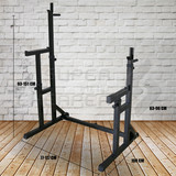 Home Gym Fitness Adjustable Squat Rack with Dip Bars and Multi Position Spotter