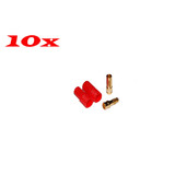 10 x RC Plane Car boats use 3.5mm Gold Bullet Connector+Housing