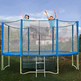 16FT ROUND SPRING TRAMPOLINE With Ladder Safety Net Enclosure Mat