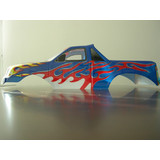 1:10 HBX  RC MONSTER TRUCK R Body Shell blue/red