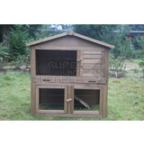Wooden Chicken Hen Coop Rabbit Hutch Guinea Pig Cage with TRAY Feeder
