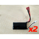 2 pc 7.4v 1300mA 25C Lipo Battery with Dean connector suitable L202 L212