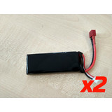 2 pc 7.4v 1500mA 25C Lipo Battery with Dean connector for Wltoy L201 L212
