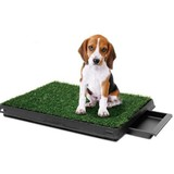 Pet Dog Toilet Mat Indoor Training Grass Potty Pad Portable Loo Tray 63x51cm