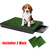 Pet Dog Toilet Training Grass Potty Pad Portable Loo Tray 63x51cm With 2 Mats