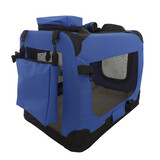 Pet Soft Crate Portable Dog Cat Carrier Travel Cage Kennel Large Foldable L Blue