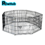 "30"" 76 x 61 cm 8 Panel Pet Playpen Portable Exercise Metal Cage Fence Dog Play Pen Rabbit"