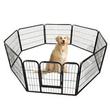 76 x 61 cm 8 Panel Pet Playpen Heavy Duty Metal Cage Fence Dog Puppy Play Pen