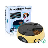 Digital LCD AUTO Dog Pet Feeder Dispenser Food Bowl Cat 6 Meal Automatic Program