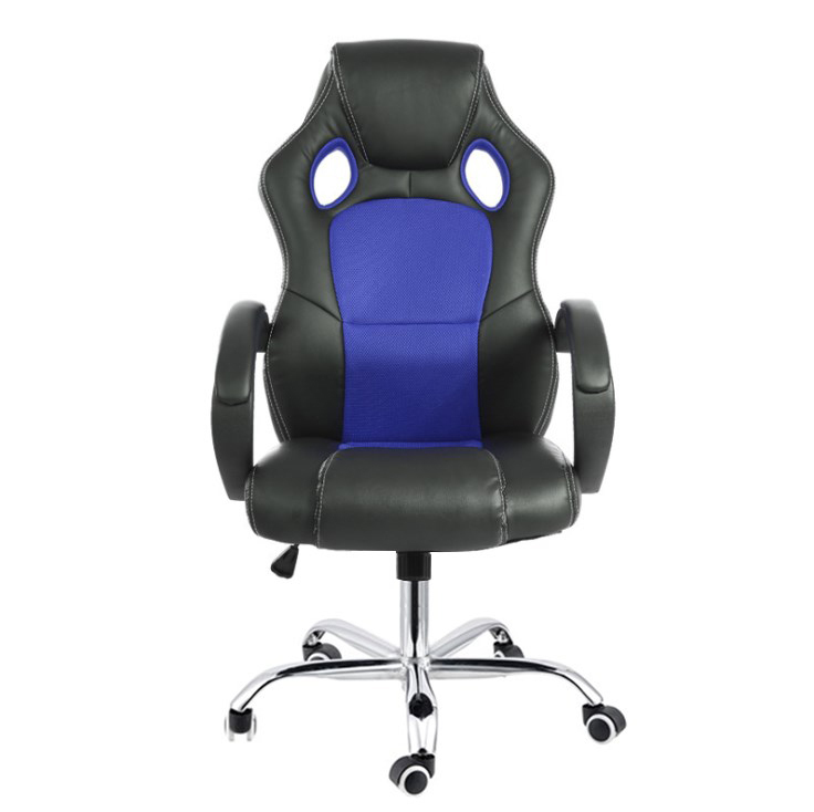7 Point Massage Racing Office Chair Executive Heated Computer Leather Game Blue