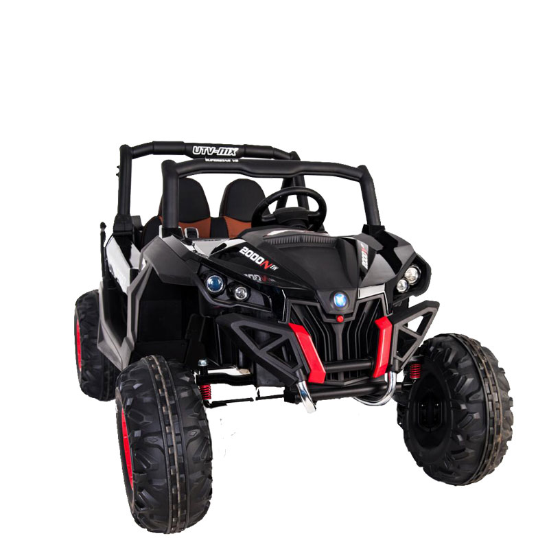 New Utv Style Electric Kids Ride On Car 24V Battery 2 Seats 2.4G Remote Black