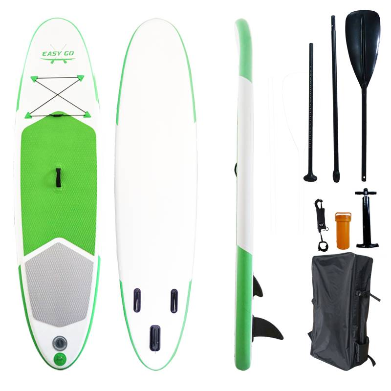 "Easy Go Green Inflatable Stand Up Paddle Board Sup Surfboard 120"" Kayak Paddle"