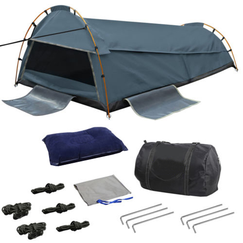 Derk King Single Swag Camping Swags Canvas Tent Deluxe