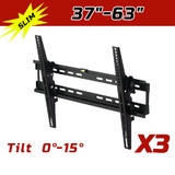 3 X Lcd Led Plasma Tv Flat Tilting Wall Mount Bracket 37 42 46 50 52 60 62 63