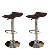 2 x New PU Leather Bar Stool Kitchen Chair Gas Lift Sena Brown