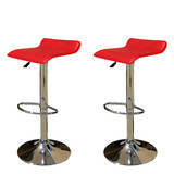 2 X New Pu Leather Bar Stool Kitchen Chair Gas Lift Sena Red