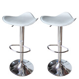 2 X New Fiesta Leather Bar Stools Kitchen Chair Gas Lift Swivel Bar Stool Fiesta White