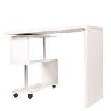 Home Office Table Computer Desk Corner Study Workstation Bookcase Swivel L-shape