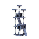 Cat Tree Scratching Post Gym Condo Furniture Scratcher Poles 170Cm Grey