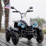 New Electric Kids Ride On Beach Quad Bike Car 12V Battery Black N White