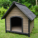 Wooden Pet Dog Kennel Timber House Cabin Wood Log Box 101Cm