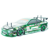 Hsp 2.4G 1/10 Flying Fish T2 On Road Drifting Rc Car S15 Silvia Green