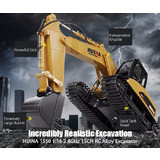 New RC 1:14 2.4GHz 15CH RC Car Alloy Excavator RTR Auto Demonstration Gifts 1550