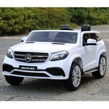 Licensed Mercedes Benz Gls63 Gls Electric Kids Ride On Car 12V Battery 2.4G Remote White