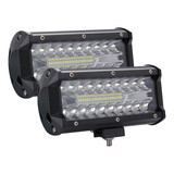 2X 7Inch  Led Work Light Bar Spot Flood Work Driving Lights Off Road 4Wd