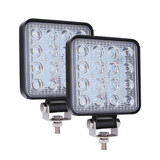 2X 48W Square Led Work Light Flood Lamp For Jeep Tractor Off Road Truck Boat 4Wd