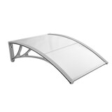 Door Window Awning Outdoor Canopy UV Patio Sun Shield Rain Cover 1x1M Grey