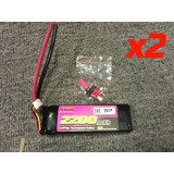 2 pc Lipo Battery 2200mah 7.4V 35C FOR RC Plane helicopter boat