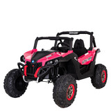 New Utv Style Electric Kids Ride On Car 24V Battery 2 Seats 2.4G Remote Pink