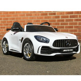 Licensed Mercedes Benz AMG GTR Remote Control Ride On Car 2 Seater White