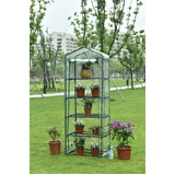5 TIERS Flower Greenhouse Garden Shed Complete with Frame and Pvc cover Green House