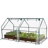 Greenhouse Flower Garden Shed Complete with Frame and Cover Green House 180L 92W 92H
