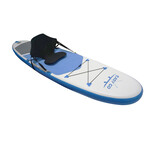 "EASY GO Blue Inflatable Stand Up Paddle Board SUP Surfboard 120"" Kayak Seat"