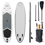 "EASY GO Grey Inflatable Stand Up Paddle Board SUP Surfboard 126"" Kayak Paddle"