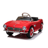 Licensed BMW Retro Vintage style Electric Kids Ride On Car 12V Battery 2.4G Remote Red