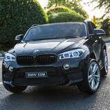 Licensed Bmw X6 X6M Two Seater Kids Ride On Car With 2.4Ghz Remote Black