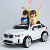 BMW X7  Style Two Seats Kids Ride on Car With 2.4Ghz remote control white