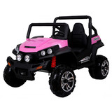 Golf Cart Style Electric Kids Ride On Car 24V Battery 2 Seats 2.4G Remote Pink