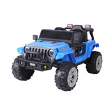 Jeep Style Electric Kids Ride On Car 12V Battery 2.4G Remote Blue