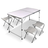 Portable Folding Outdoor Camping Picnic BBQ Table and 4PCS Chairs Set