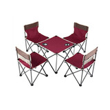 Portable Folding Outdoor Camping Picnic Bbq Table And 5Pcs Chairs Table Set